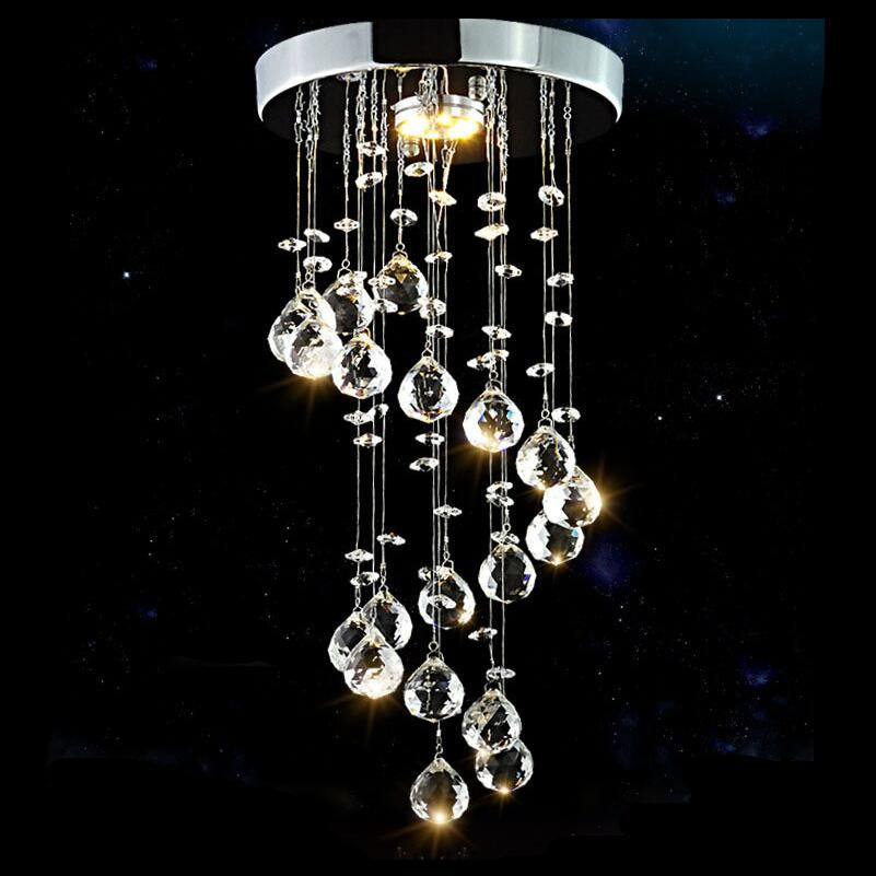 Lights & Lighting Adroit Fashion New Crystal Ceiling Lamp Bright 5w Led Lamps Living Room Dining Room Rotary Ceiling Lamps Led Lustre Ceiling Lights Z5 Fixing Prices According To Quality Of Products Ceiling Lights