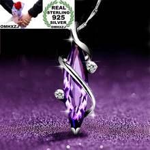 Ожерелье из серебра 925 пробы с аметистом ААА и цирконом