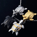 Turtle tortoise  pendant for men and women summer style crystal jewelry charm 2016 fashion wholesale