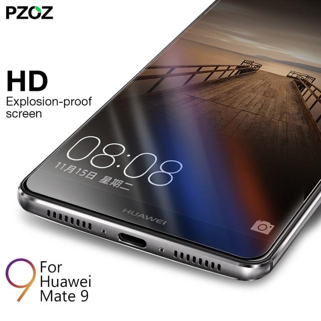 Pzoz huawei mate 9แก้วอารมณ์ปกนายกรัฐมนตรีป้องกันหน้าจอ9 hสำหรับhuawei mate9ล้างหน้าจอโทรศัพท์ฟิล์มแก้วmate 9แก้ว