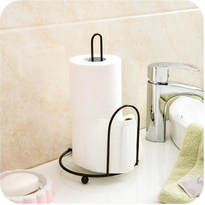 iron vertical napkin paper towel storage rack desk organizer storage shelf for kitchen bathroom supplies
