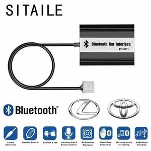 Image 1 - SITAIEL araba Bluetooth A2DP MP3 müzik çalar adaptörü Toyota Lexus Scion için AUX USB şarj Handsfree Bluetooth araba Styling