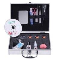 Portable Eye Lash False Eyelash Extension Kit Full Set With Silver Color Case