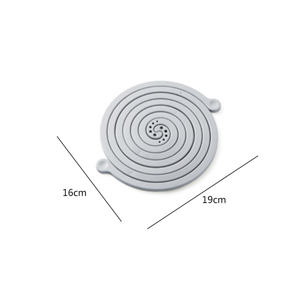 Personality Mosquito Coils Shaped Detachable Silicone Anti-scalding Heat Insulated Pad Coaster Table Mat Kitchen Accessarie Mats & Pads