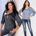 Fashion Women Casual V-Neck Long Sleeve Chiffon Shirt Blouse Summer Loose Tops