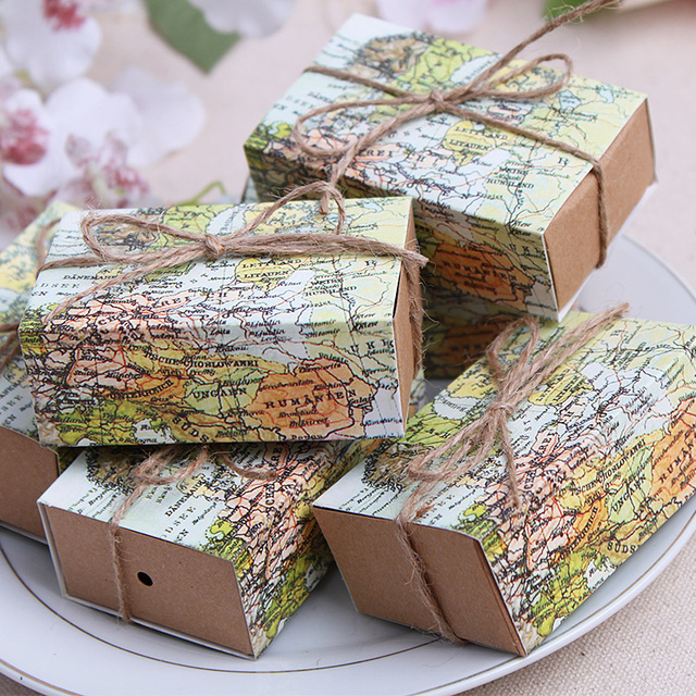Sweet box around the world map favor box for traveling theme party sweet box around the world map favor box for traveling theme party gumiabroncs Gallery