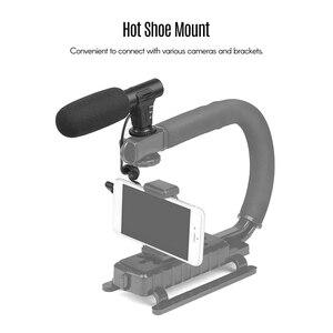 Image 4 - Shoot Xt 451 캐논 카메라 캠코더 Dv 스마트 폰용 3.5Mm 잭 핫슈 마운트가있는 휴대용 콘덴서 스테레오 마이크 마이크
