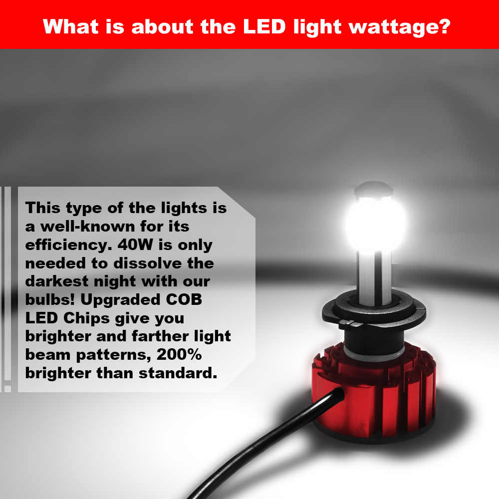 6000K 80W 10000LM Car Headlight Bulb H11 HB3 HB4 9006 9005 H7 Mini Led Headlamp Auto H4 led Auto Headlight Super Bright Lamps