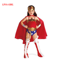 LG Halloween Superman Wonder Woman Children Party Cosplay Costumes Gift For Girls Clothes Children S Clothing