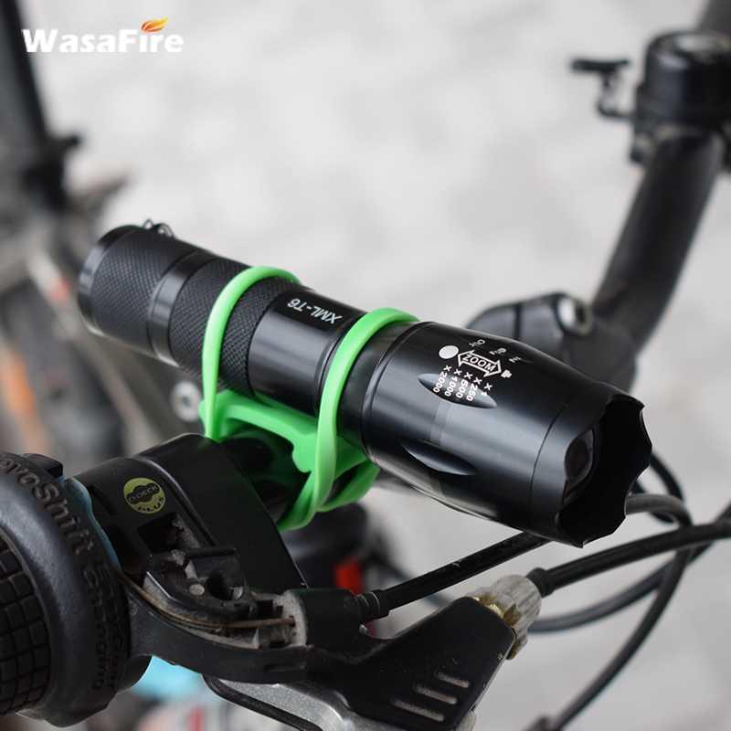 2pcs Bicycle Strentch Silicone Rubber Band Light Holder Tube Mount Strap Belt EF