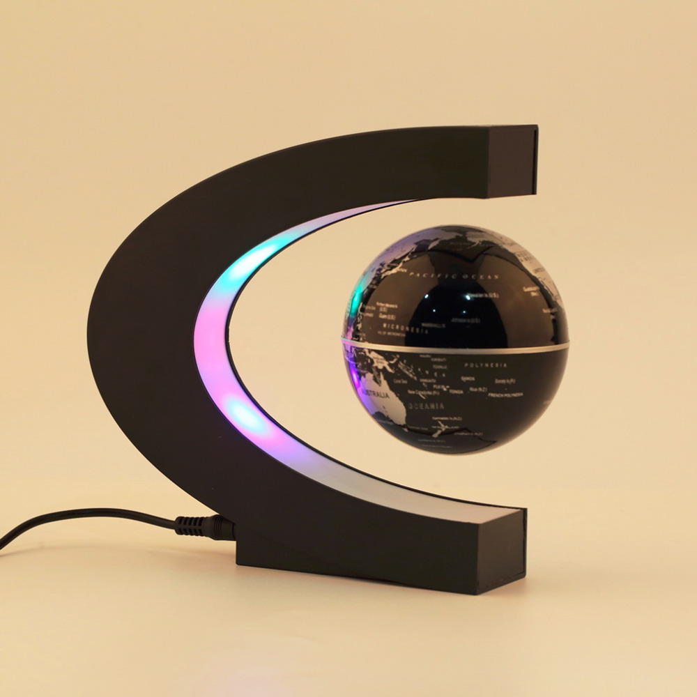 Electronic Magnetic Levitation Floating Globe Antigravity magic novel light Birthday Gift Xmas Decoration Santa Decor Home