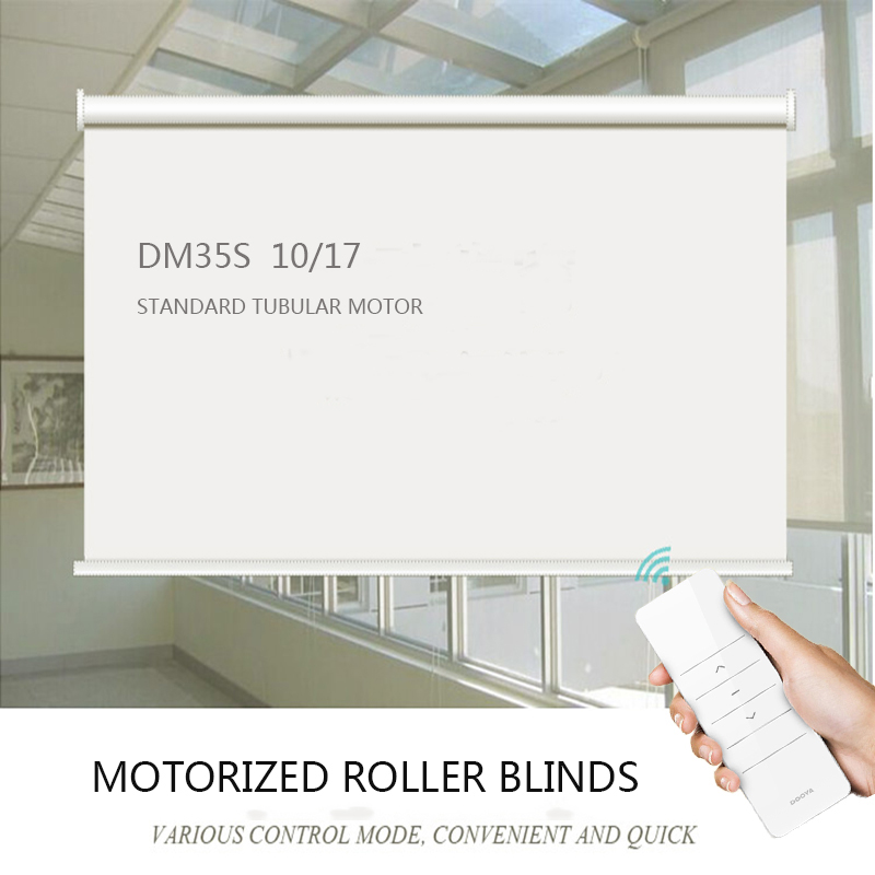 Customized big size Electric motorized roller blinds waterproof with Tubular Motor DM35S max weight 24KG for
