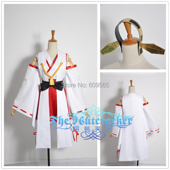 Free shipping! Kantai Collection Mother-ship Fleet Haruna Cosplay Costume ,Perfect Custom For you!
