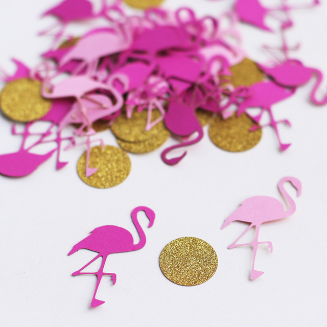 c02 Flamingo Confetti | Flamingo Party | Hawaiian Party | Luau | Girls Birthday Party | Tropical Party | Paper Flamingos