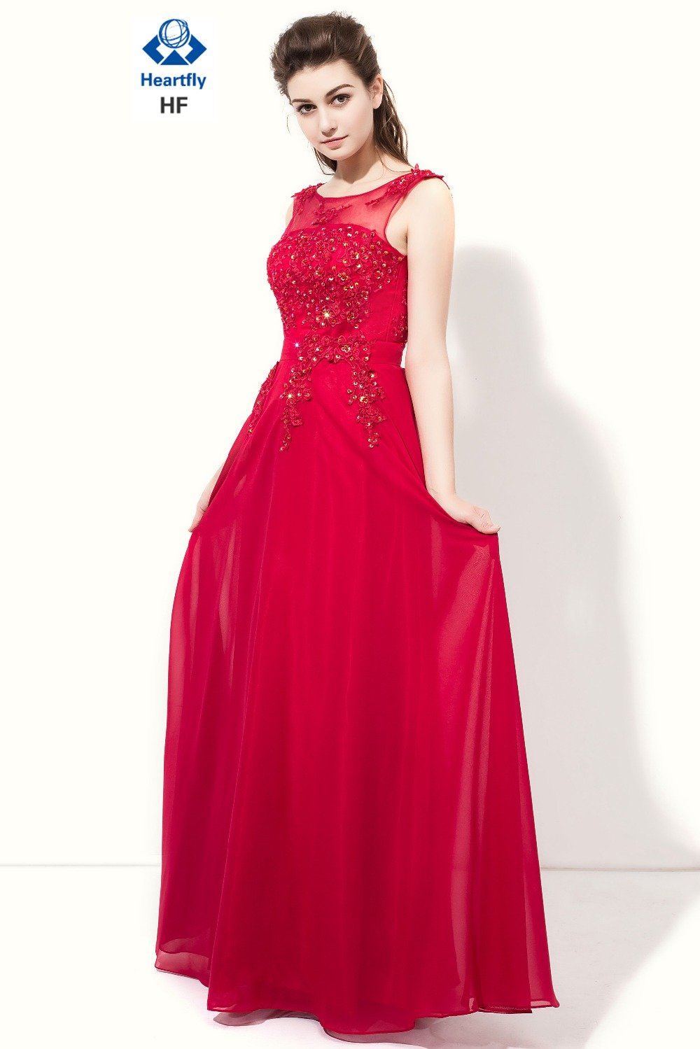 Heartfly sheer neck applique long bridesmaid dresses 2017 fashion heartfly sheer neck applique long bridesmaid dresses 2017 fashion chiffon vestido madrinha formal party gown fast delivery in bridesmaid dresses from ombrellifo Images