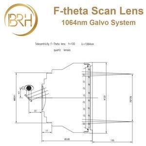 Image 4 - BRH F theta Lente Lente di Campo 1064nm di Scansione 50x50 300x300mm FL.63 420mm Filo M85X1 per Laser In Fibra marcatura di Parti di Macchine