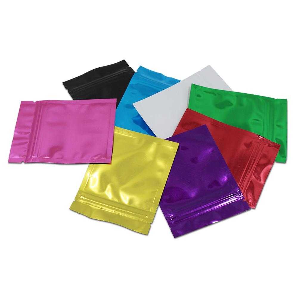 100pcs lot 10 15cm aluminum foil zip lock bag mylar self seal vacuum ziplock packaging pouches. Black Bedroom Furniture Sets. Home Design Ideas