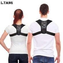 L.TANG Posture Corrector Brace Adjustable Back Support Belt