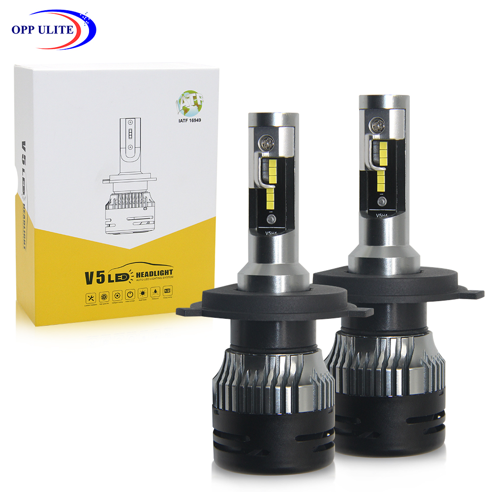 Opp Ulite Small Size H4 Led Headlights Auto Lamp With Fan