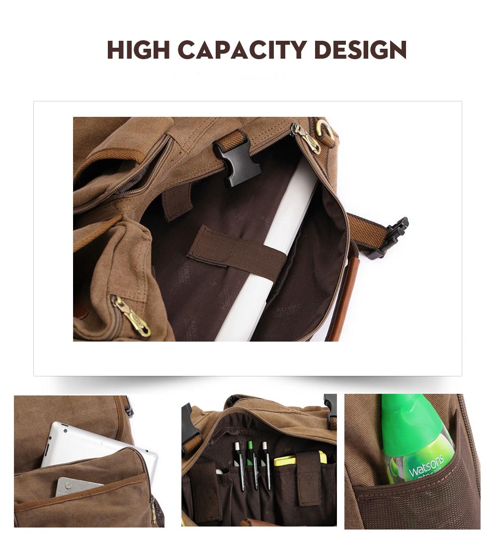 Marke Stilvolle Reise New vintage rucksack canvas backpack leisure travel schoolbag unisex laptop backpacks men backpack male 8