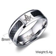 Black Men Ring Stainless Steel