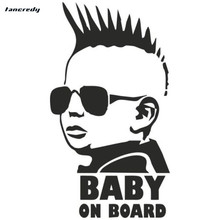 rylybons car stickers Baby On Board 3D Car Stickers Motorcycle decals 8.3*15cm Car stickers and decals Car Styling 0383