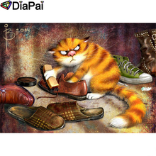 DIAPAI Diamond Painting 5D DIY 100% Full Square/Round Drill Cartoon cat shoes Embroidery Cross Stitch 3D Decor A24770