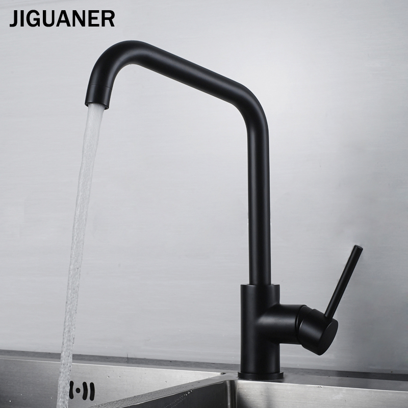 Jiguaner Brass Kitchen Faucet Sink Faucet Hot And Cold