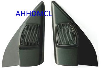 Samochodów wysokotonowy głośnik pudełka gumowe drzwi kątowe do Nissan marca 2010 r 2011 2012 2013 2014 2015 2016 2017 2018 tanie i dobre opinie Skrzynek głośnikowych Black AHHDMCL ABS+PC+Metal 0 25kg Car audio door angle gum tweeter refitting