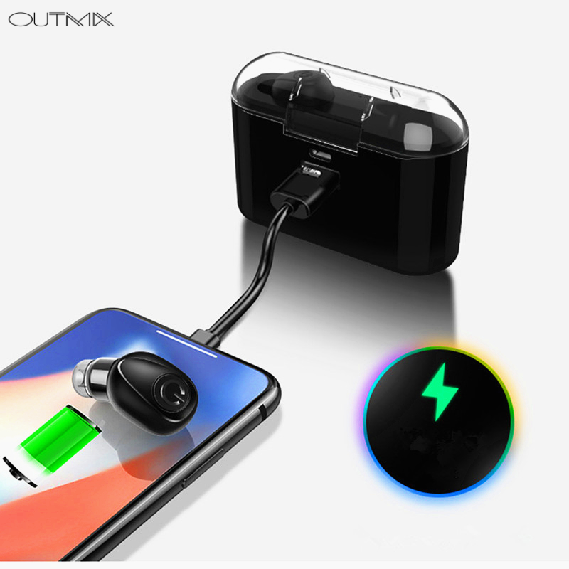 364d0bd11ff OUTMIX Hot Sell TWS Mini Wireless Bluetooth Earphone Stereo Earbud Headset  With Charging Box Mic For All Smart Phone | Shop Online