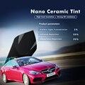 SUNICE 50 см x 400 см автомобильный Стайлинг черная нано-керамическая оконная пленка Декор Автомобильная боковая/задняя лобовое стекло самоклеящ...
