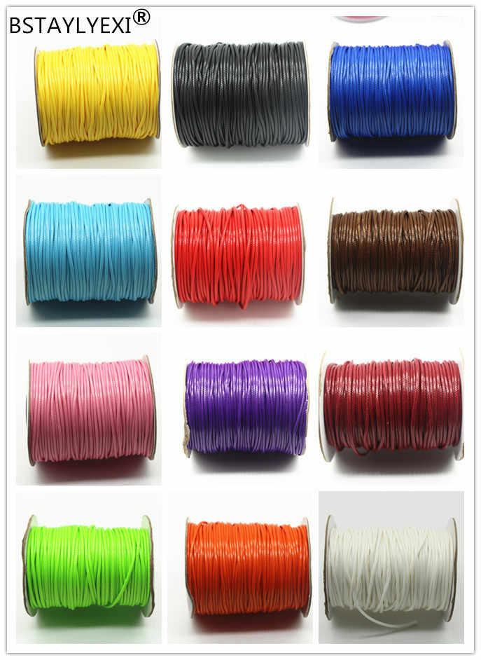 10 メートル 1.5 ミリメートル 5 メートル 2 ミリメートル直径ワックス糸ポリエステルコード文字列ストラップ DIY フィッティングブレスレットロープ装飾アクセサリー