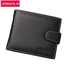 JINBAOLAI кожаные мужские кошельки однотонный образец стиль молния кошелек человек карта Horder кожа известный бренд высокое качество мужской кошелек