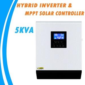Image 1 - Гибридный инвертор немодулированного синусоидального сигнала 5KVA 48V 220V Встроенный MPPT 60A PV Контроллер заряда и зарядное устройство переменного тока для домашнего использования