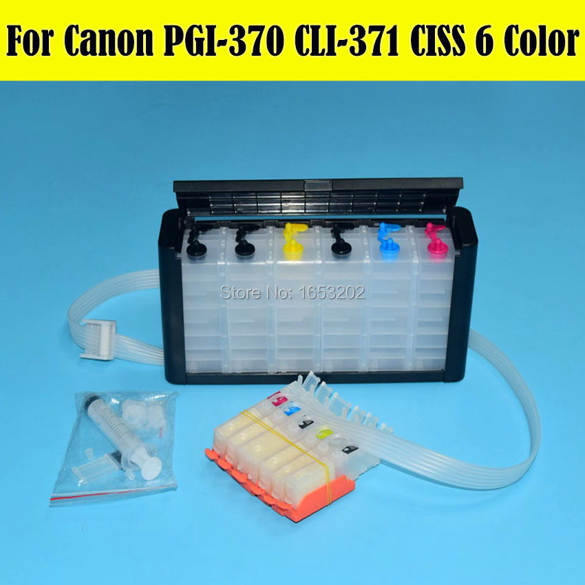 1 Set MG7730 MG6930 Ciss System For Canon PGI-370 CLI-371 CLI-371Y 370 371 Ciss With Auto Reset Chip