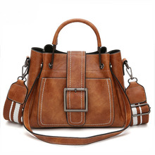 Fashion Boston Litchi Pattern Handbag High Quality PU Leather Casual Shoulder Bags Large Capacity Solid Crossbody Bag  Hot Sale
