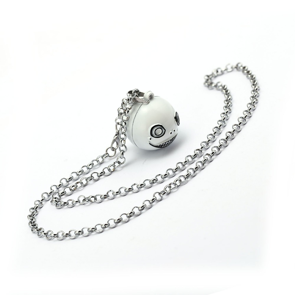 NieR Automata Necklace Alloy Ball Robot 2B Emil No2 Type B Pendant Necklace Friendship Accessories For Women Men Jewelry