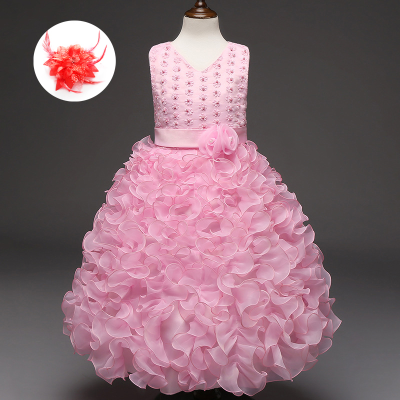 Beautiful Red Royal Blue Hot Pink Princess Dress Girls Red Blue ...