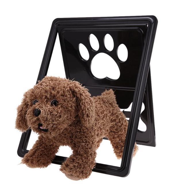 Pet Bone Handprint Plastic Dog Cat Door For Screen Window Gate Pet