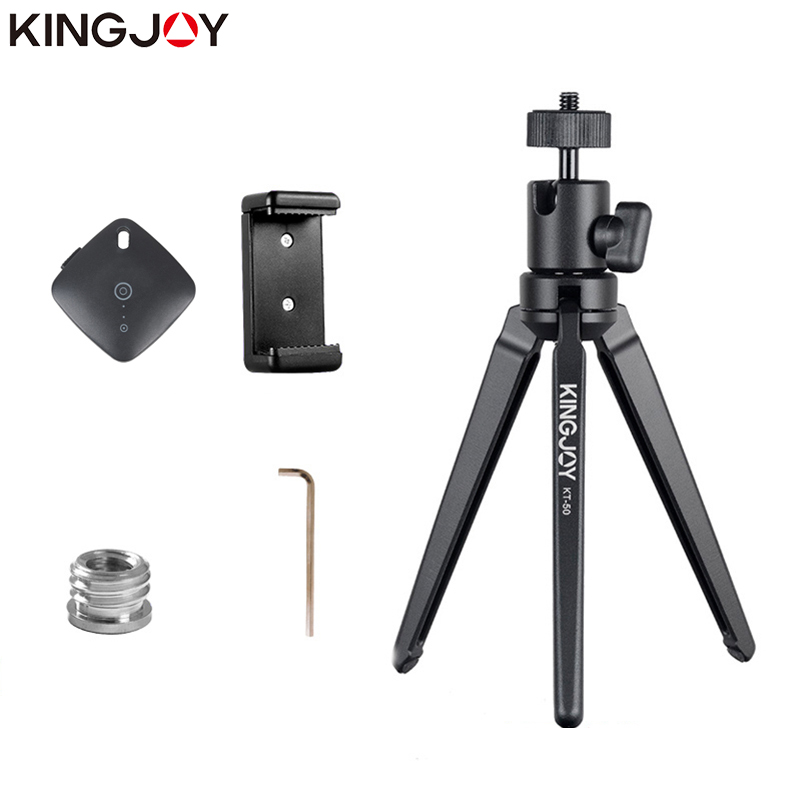 KINGJOY Officia KT 30 50 Mini Tripod For Phone Aluminum Stand For Phone Mobile Camera Stabilizer