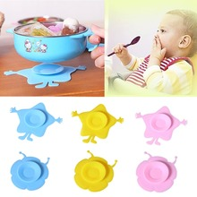 Hot Sale Silicone Pad Baby Children Sucker Antiskid Feeding Bowl Mat Kitchen Tool 1-3 Child Bowl
