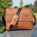 Luxury Famous Brand Designer Natural Cowskin men bags Vintage Fashion genuine leather men messenger bags Available for A4