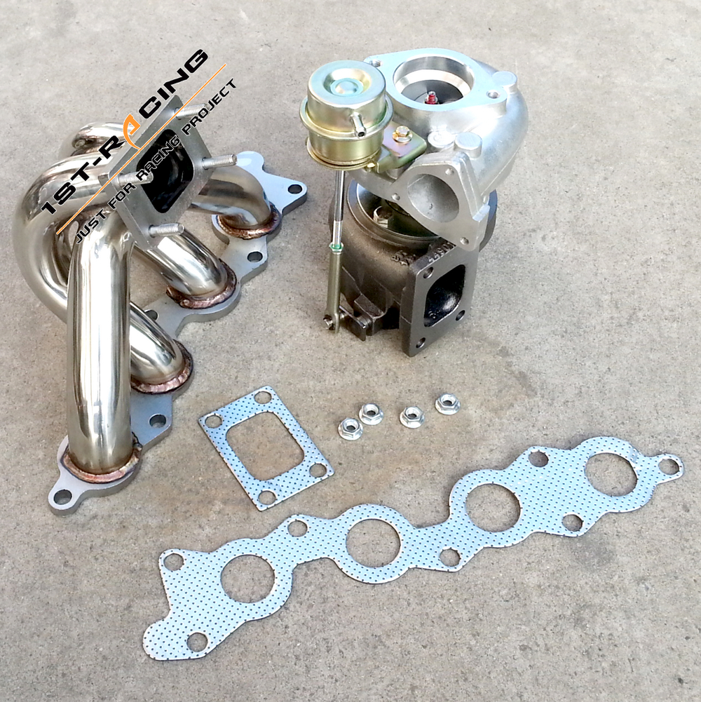US $429 0 |Exhaust Turbo Manifold for Suzuki Swift GTi G13B + BOLT ON WATER  TURBOCHARGER-in Turbo Chargers & Parts from Automobiles & Motorcycles on