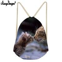 Сумка для влюбленных с объемным милым принтом кота, Портативная сумка с карманом, Мужская и Женская дорожная сумка, Лидер продаж, лучший под...