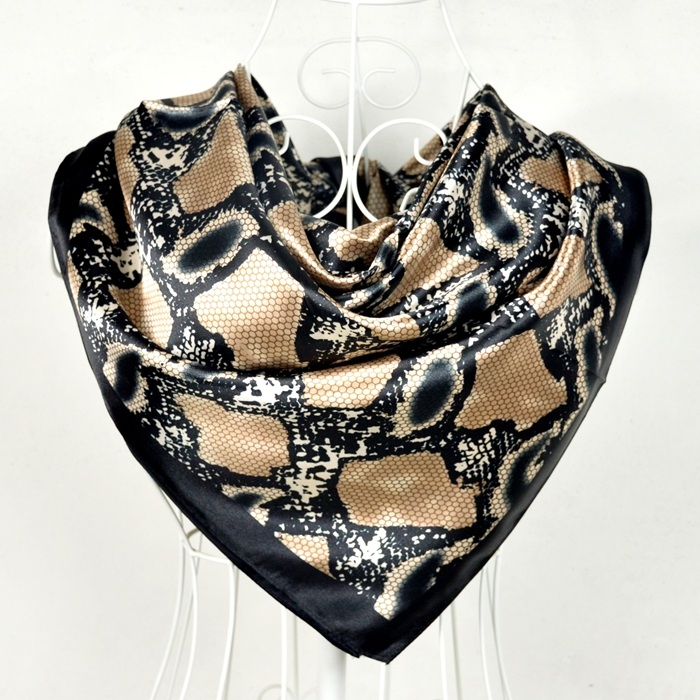1f6ef38e5a23 Dropwow New Style Snakeskin Pattern Square Scarves Wraps Printed Hot ...