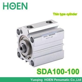 SDA100-100 Airtac type SDA series 100mm Bore 100mm Stroke Pneumatic Air Compact Cylinder SDA100*100