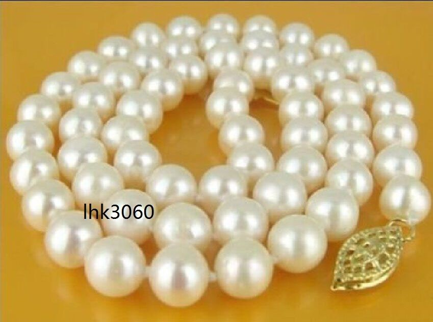 real classic 18 9-10mm akoya white pearl Necklace real classic 18 9-10mm akoya white pearl Necklace