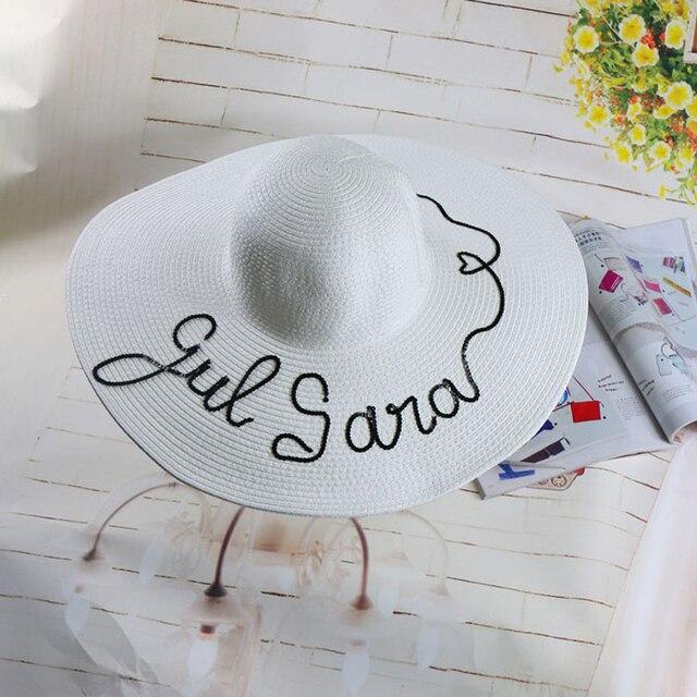 2016 mujeres del verano plegable de Ala Ancha Beach Sun Cap gran stylish girls Sombrero de playa sombrero de paja para Las Señoras de Viaje de Vacaciones sombreros