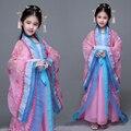 Детский Костюм Hanfu Tang Dynasty Принцесса Сказка Принцесса Костюм Guzheng Костюмы Дети Древние Одежды