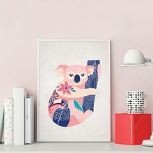Cartoon Hand-painted Colorful Australian Cute Animal Koala Poster Print Picture Canvas Painting Home Decoration Can Be Customize